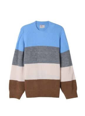 여성) 컬러 블록 스웨터(BL)