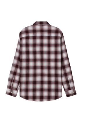여성) 플란넬 레귤러 셔츠(WNM)