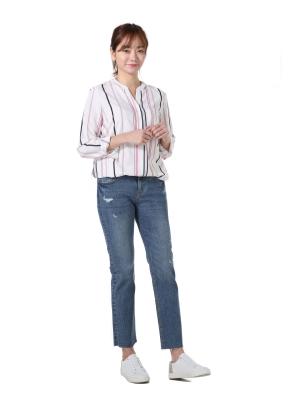 [★탑텐몰 단독특가] 여성) 슬림스트레이트 데님팬츠(BL)