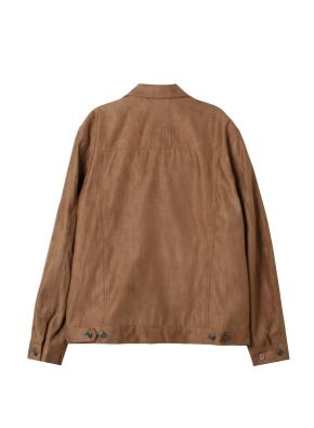 남성) 스웨이드 트러커 재킷(BR)