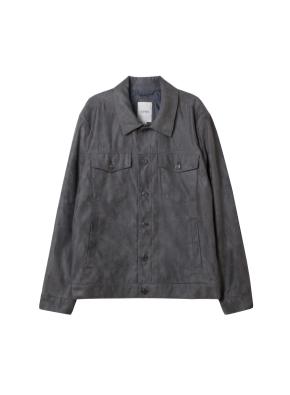 남성) 스웨이드 트러커 재킷(KGR)