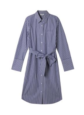 여성) 포플린 셔츠 원피스(NVS)