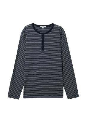 남성) 스트라이프 헨리넥 티셔츠(NV)