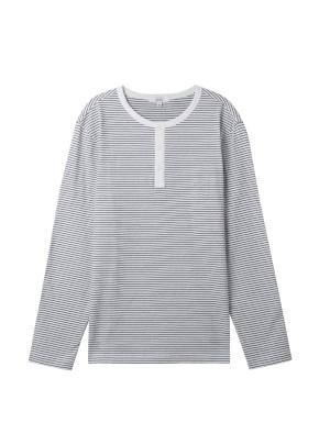 남성) 스트라이프 헨리넥 티셔츠(WH)