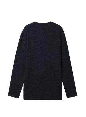 남성) 넥 슬릿 티셔츠(BK)