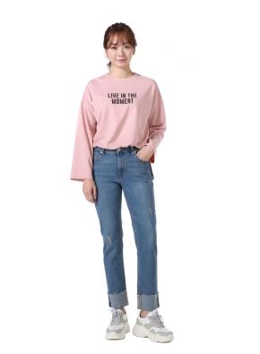 여성) 레터링 그래픽 티셔츠(PK)