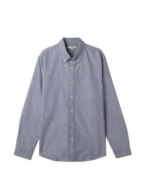 남성) 옥스포드 버튼다운 셔츠(GR)