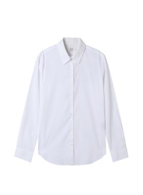 여성) 포플린 와이드 커프스 셔츠(WT)