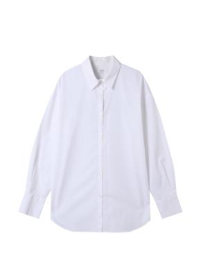여성) 포플린 오버핏 셔츠(WT)