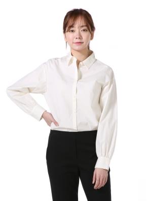 여성) 포플린 베이직 셔츠(CR)