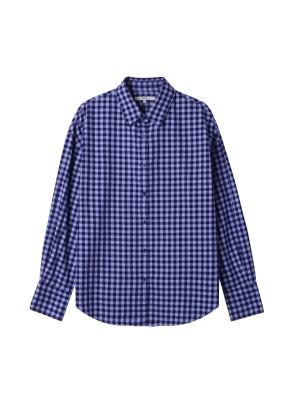 여성)  플란넬 루즈핏 셔츠(VI)