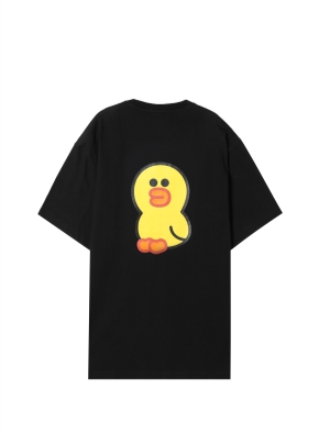 [★탑텐몰 단독 주말특가] 공용) 라인프렌즈 티셔츠 (BKS)