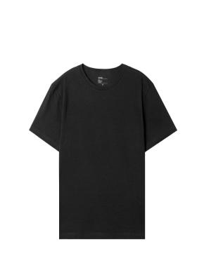 [2장 15,900원] 공용) 싱글 반팔 티셔츠 (BK)