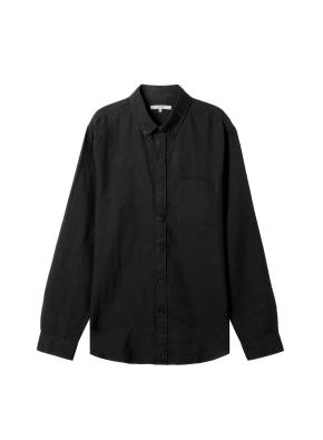 [★온라인 단독특가] 남성) 리넨 버튼다운 긴팔 셔츠(BK)