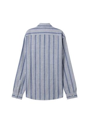 남성) 리넨 버튼다운 긴팔 셔츠(BLW)