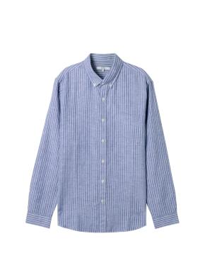 남성) 리넨 버튼다운 긴팔 셔츠(BST)