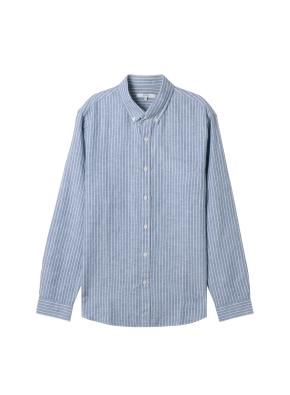 남성) 리넨 버튼다운 긴팔 셔츠(GST)