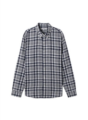 남성) 리넨 버튼다운 긴팔 셔츠(NVK)