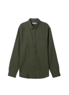 남성) 리넨 버튼다운 긴팔 셔츠(OL)