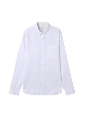 남성) 리넨 버튼다운 긴팔 셔츠(WT)