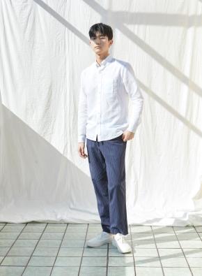 [★온라인 단독특가] 남성) 리넨 버튼다운 긴팔 셔츠(WT)