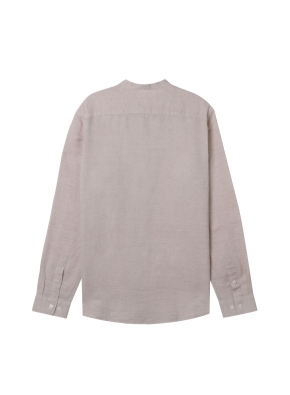 [★온라인 단독특가]  남성) 리넨 밴드카라 긴팔 셔츠(BE)