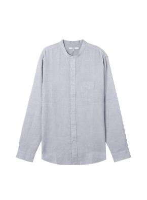 [★온라인 단독특가]  남성) 리넨 밴드카라 긴팔 셔츠(LGR)