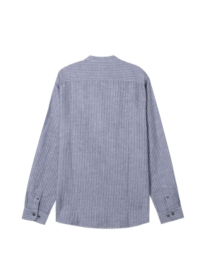 남성) 리넨 밴드카라 긴팔 셔츠(NNS)