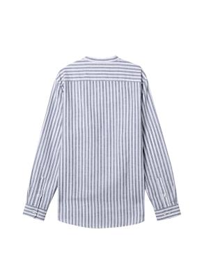 [★온라인 단독특가]  남성) 리넨 밴드카라 긴팔 셔츠(WBS)