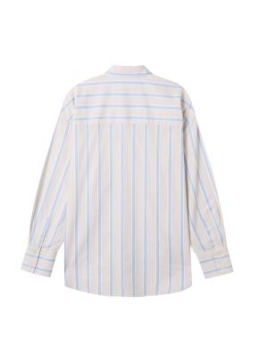 여성) 포플린 레귤러 카라 긴팔 셔츠(BE)