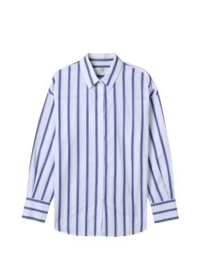 여성) 포플린 레귤러 카라 긴팔 셔츠(BLP)
