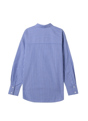 여성) 포플린 레귤러 카라 긴팔 셔츠(SBL)