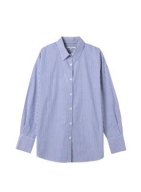 여성) 포플린 레귤러 카라 긴팔 셔츠(SWT)