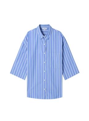 여성) 포플린 칠부 셔츠(SBL)