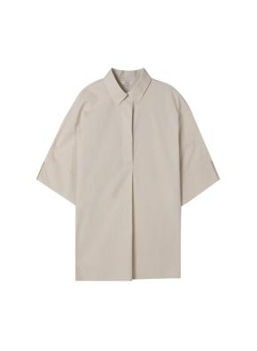 [★탑텐몰 단독특가] 여성) 포플린 튜닉 반팔 셔츠 (CR)