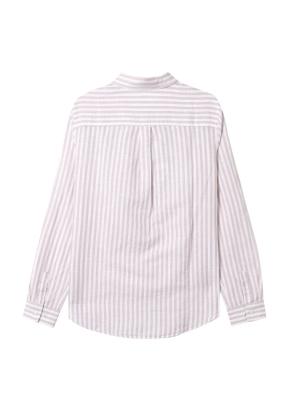 [★탑텐몰 단독특가] 여성) 리넨 레귤러 카라 긴팔 셔츠(BES)