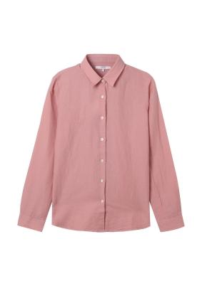 [★탑텐몰 단독특가] 여성) 리넨 레귤러 카라 긴팔 셔츠(CR)