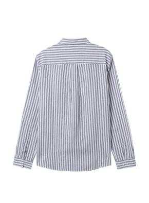 [★탑텐몰 단독특가] 여성) 리넨 레귤러 카라 긴팔 셔츠(GRS)