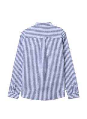 [★탑텐몰 단독특가] 여성) 리넨 레귤러 카라 긴팔 셔츠(NVS)