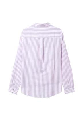 [★탑텐몰 단독특가] 여성) 리넨 레귤러 카라 긴팔 셔츠(VIS)