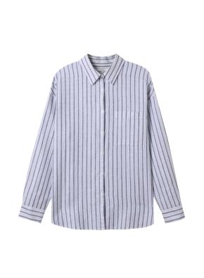 [★탑텐몰 단독특가] 여성) 리넨 레귤러 카라 오버핏 긴팔 셔츠(WTP)