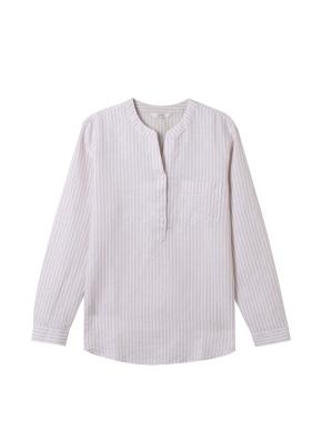 [★탑텐몰 단독특가] 여성) 리넨 밴드카라 튜닉 긴팔 셔츠(BGS)