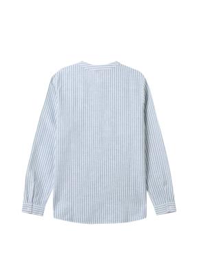 [★탑텐몰 단독특가] 여성) 리넨 밴드카라 튜닉 긴팔 셔츠(GRS)