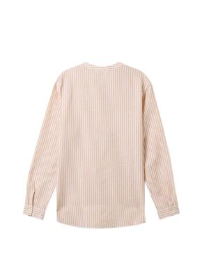 [★탑텐몰 단독특가] 여성) 리넨 밴드카라 튜닉 긴팔 셔츠(YLS)