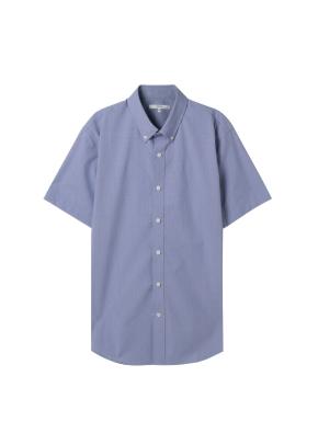 남성) 코튼스판 버튼다운 반팔 드레스 셔츠(BLD)