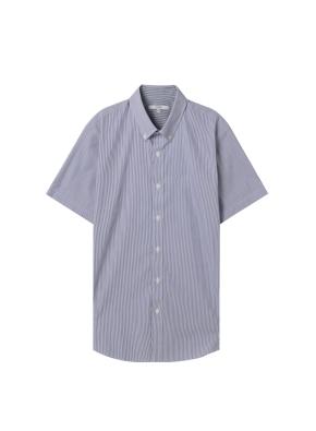 남성) 코튼스판 버튼다운 반팔 드레스 셔츠(NVP)