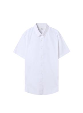 남성) 코튼스판 버튼다운 반팔 드레스 셔츠(WT)