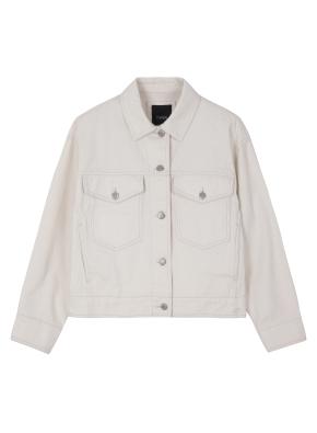 여성) 면 트러커 재킷