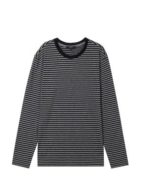 남성) 싱글 스트라이프 긴팔 티셔츠 (GRP)