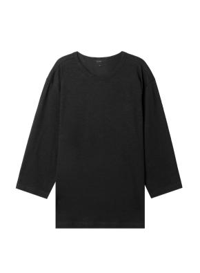 [탑텐몰 단독] 공용) 슬럽 7부 티셔츠 (BK)